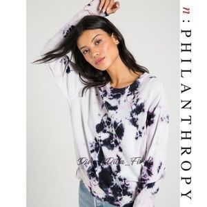 N:philanthropy Tie Dye Relaxed fit Terry pullover